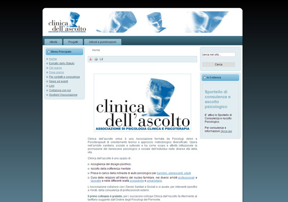 Joomla Content Management System. Psychological association of Torino.